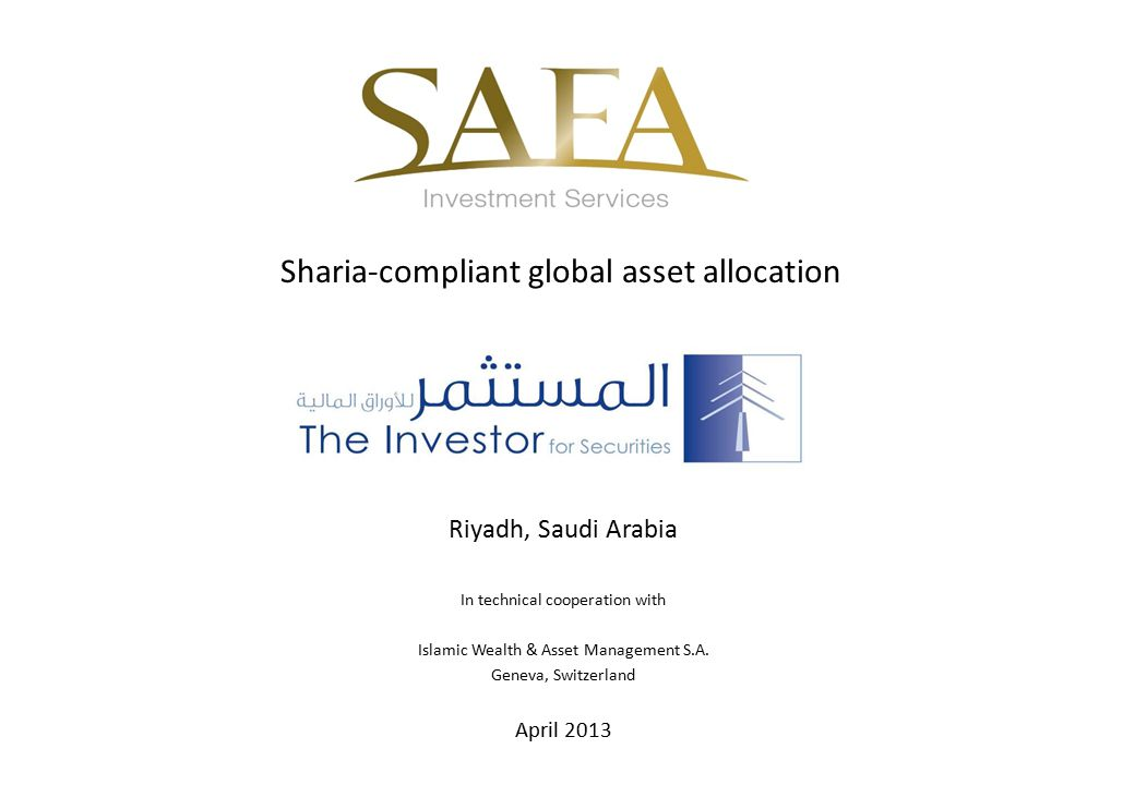 Sharia-compliant global asset allocation
