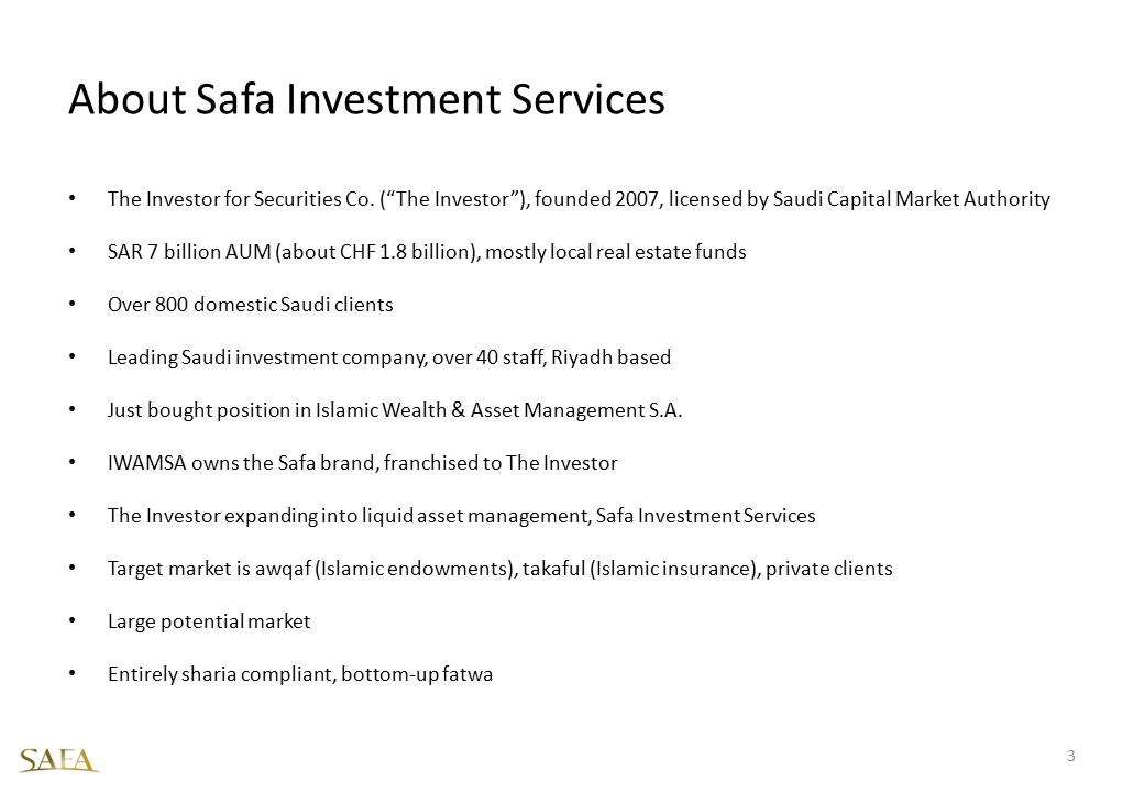 About Safa Investment Services