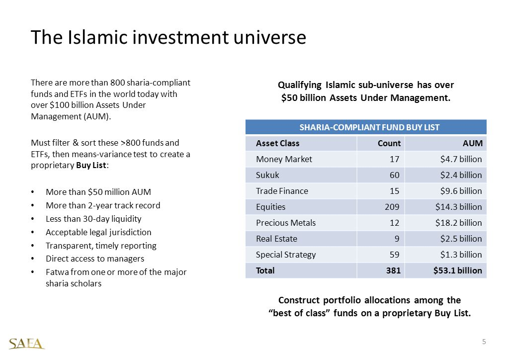 The Islamic investment universe