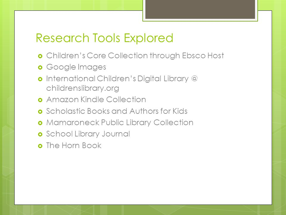 Research Tools Explored