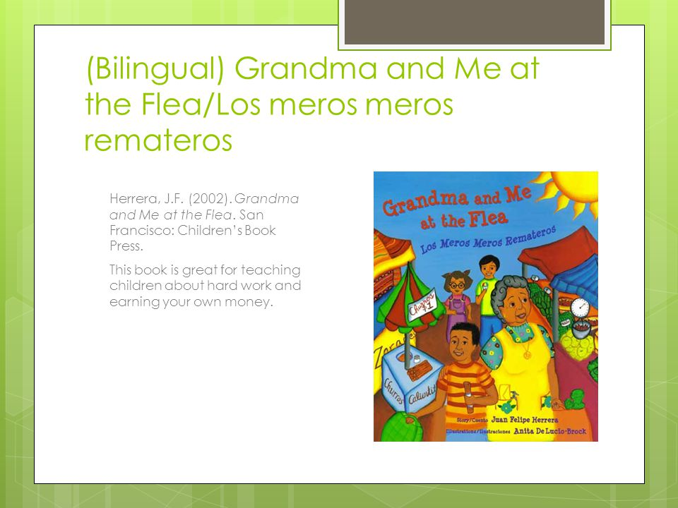 (Bilingual) Grandma and Me at the Flea/Los meros meros remateros