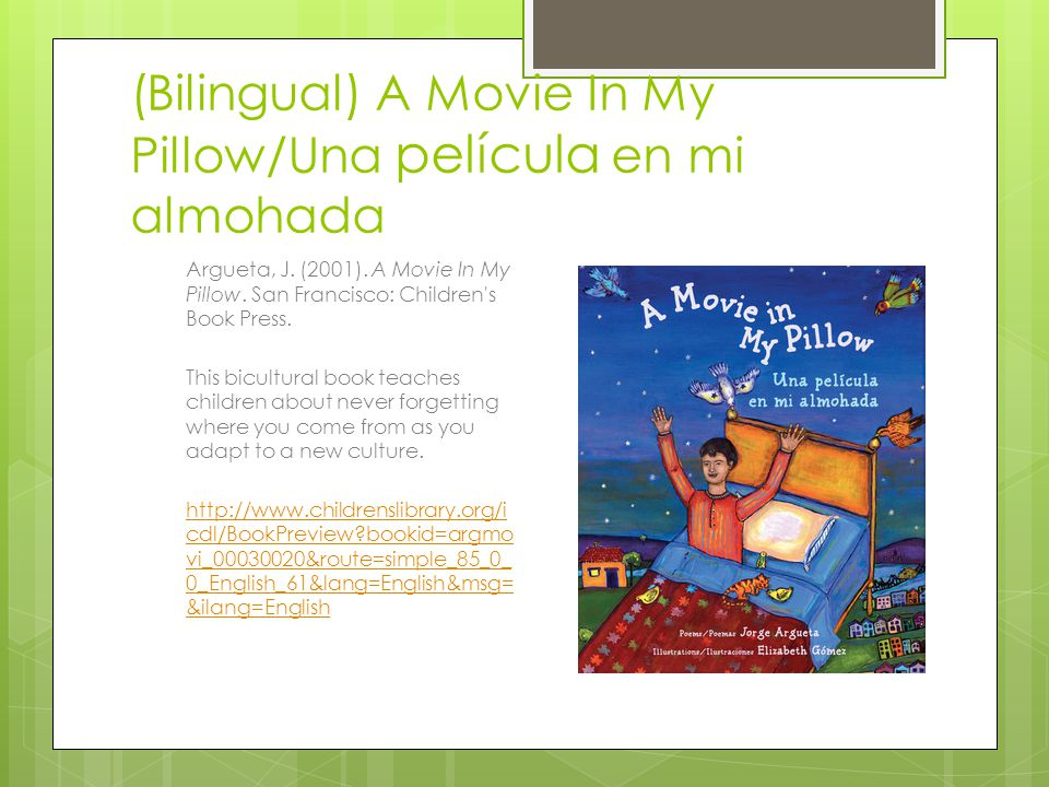 (Bilingual) A Movie In My Pillow/Una película en mi almohada