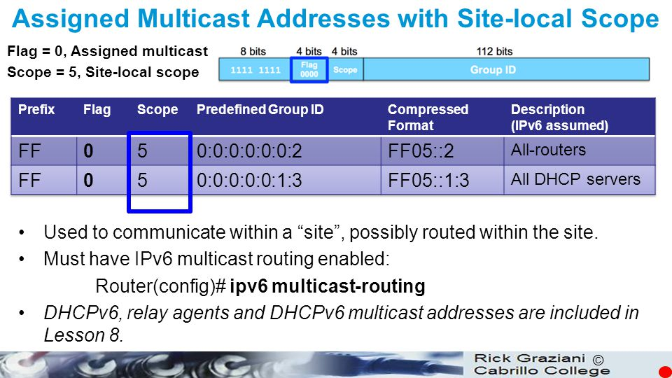 Assigned Multicast Addresses with Site-local Scope