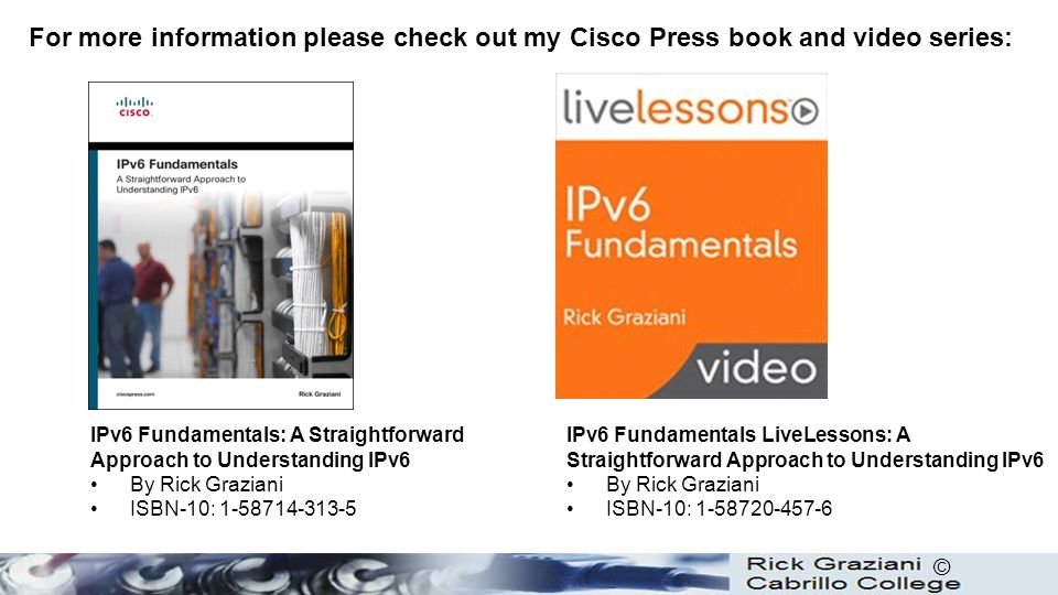 For more information please check out my Cisco Press book and video series: