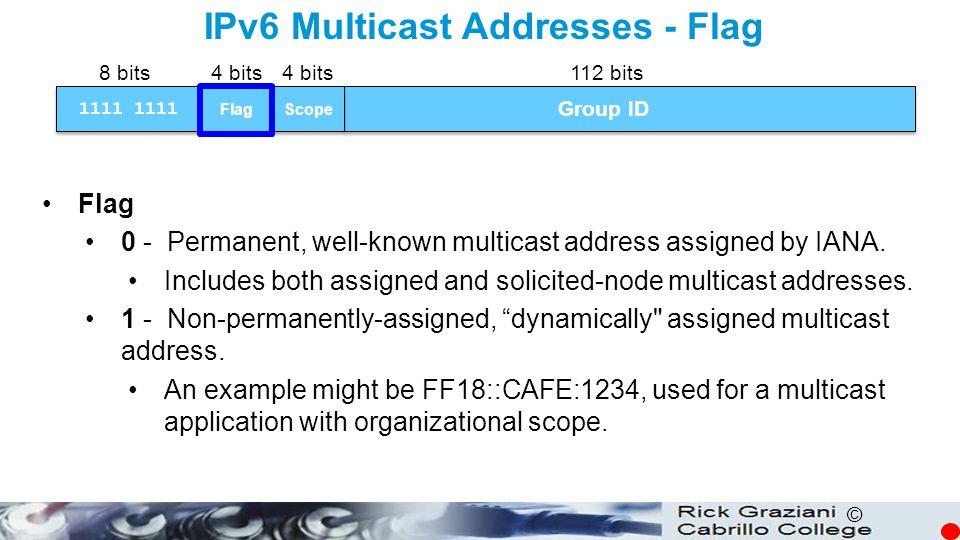 IPv6 Multicast Addresses - Flag