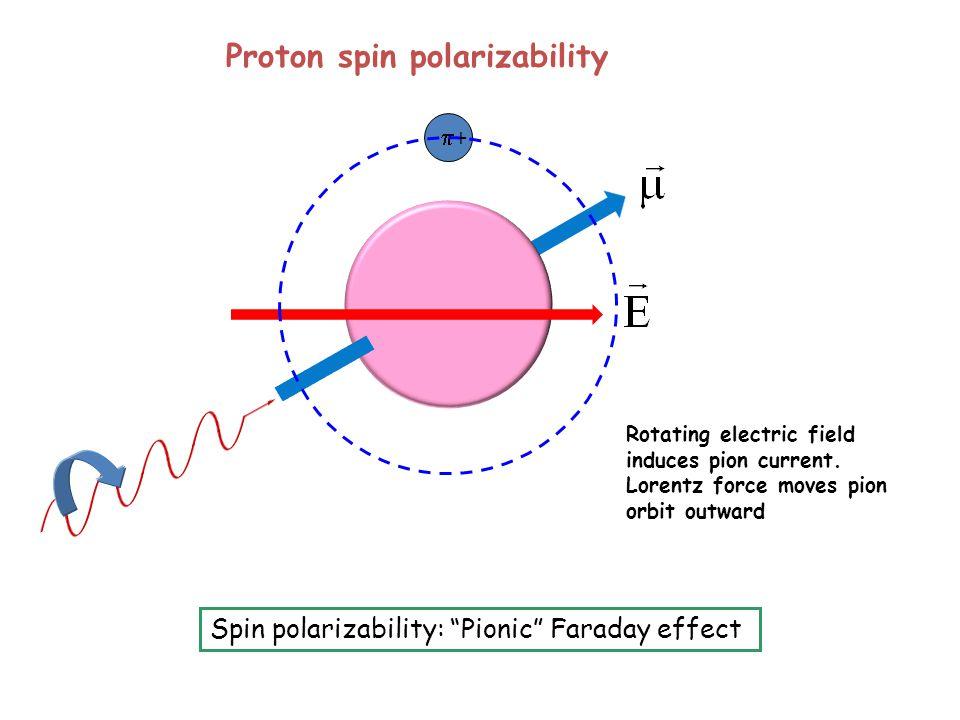 Proton spin polarizability