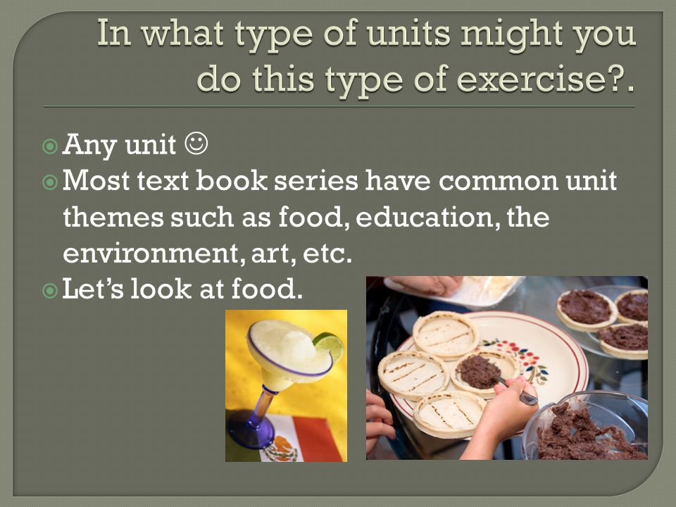 In what type of units might you do this type of exercise .