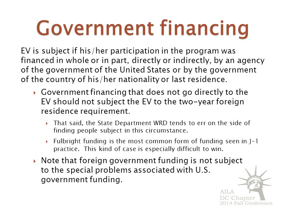 Government financing