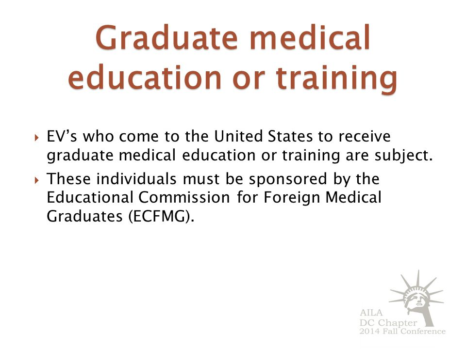 Graduate medical education or training