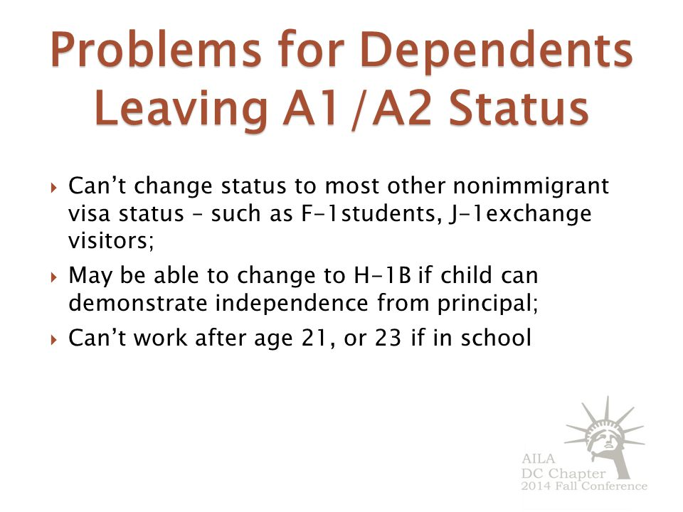 Problems for Dependents Leaving A1/A2 Status