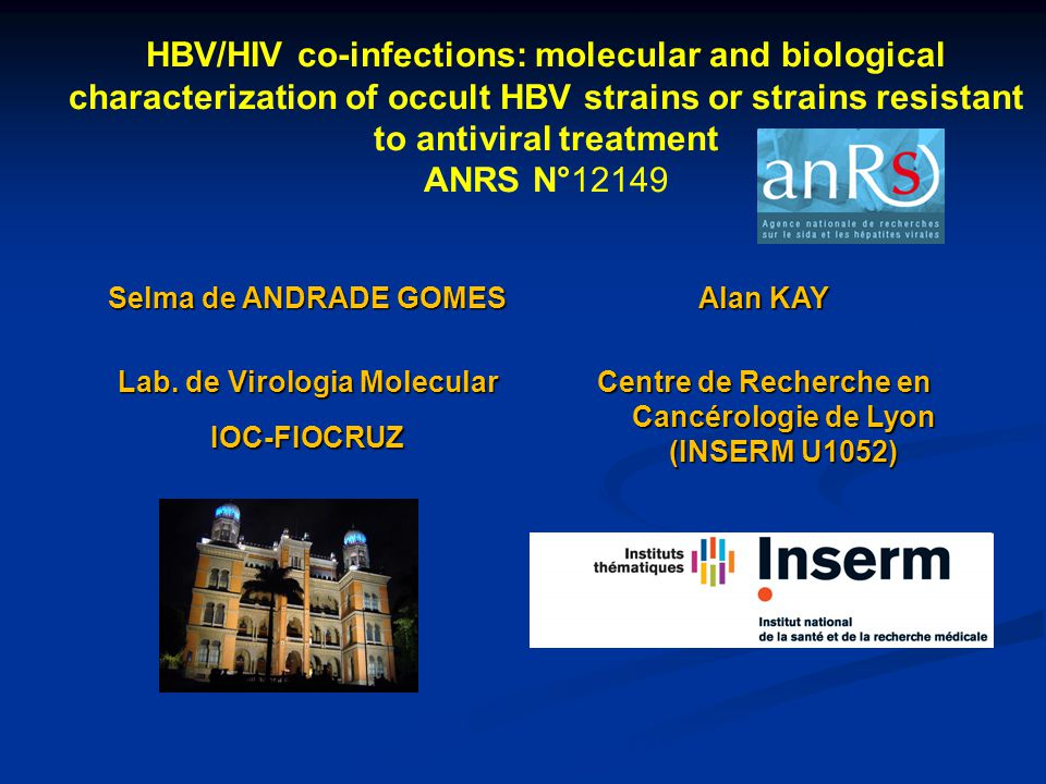 HBV/HIV co-infections: molecular and biological characterization of occult HBV strains or strains resistant to antiviral treatment