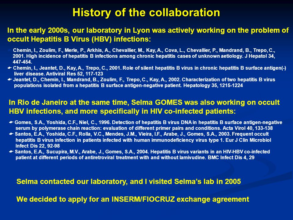 History of the collaboration