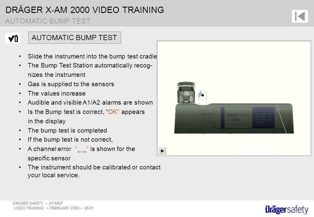 AUTOMATIC BUMP TEST AUTOMATIC BUMP TEST