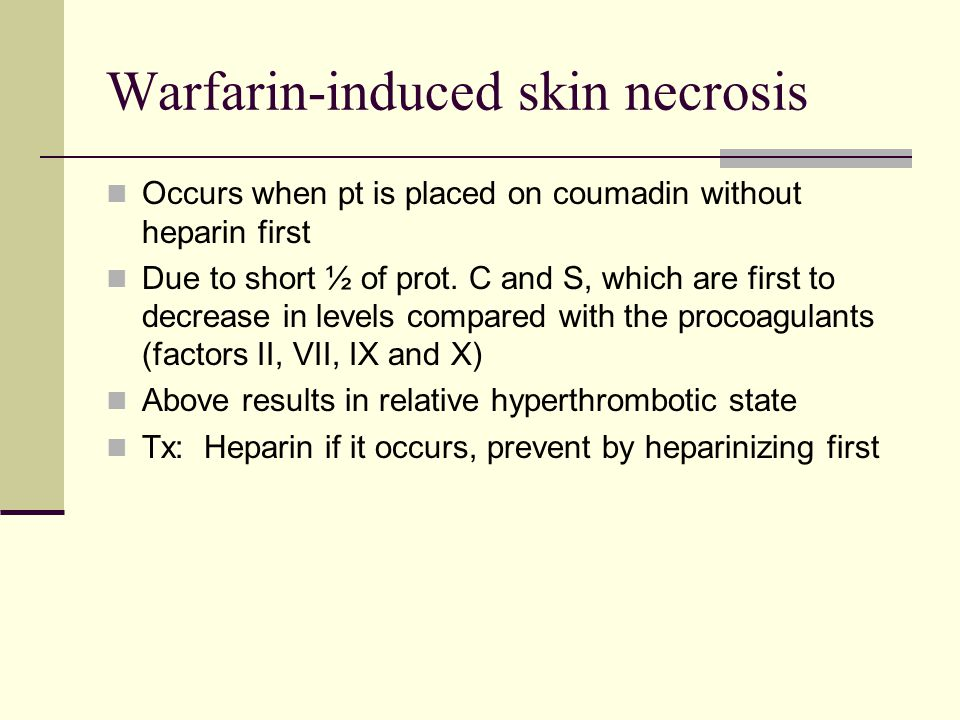 Warfarin-induced skin necrosis
