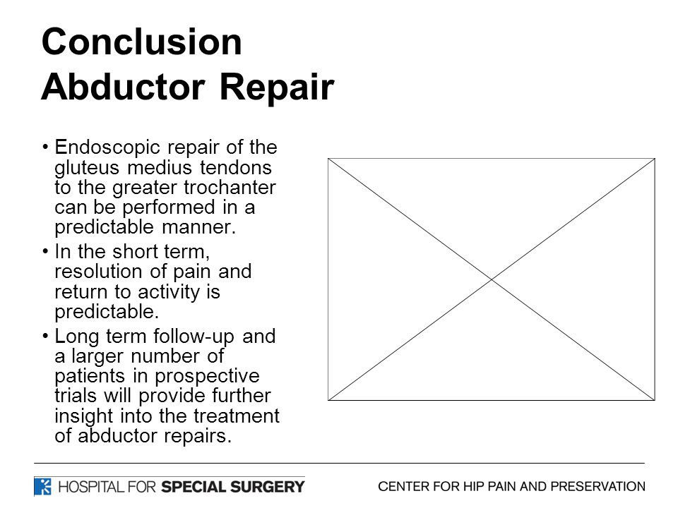 Conclusion Abductor Repair
