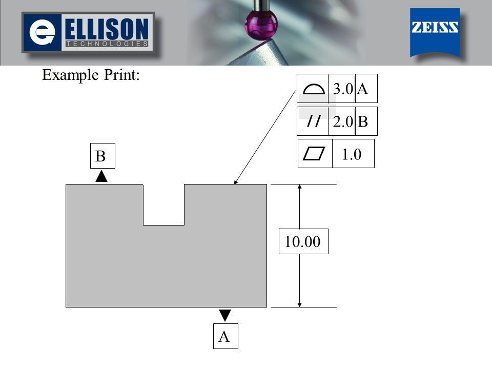 Example Print: 3.0 A 2.0 B B 1.0 10.00 A