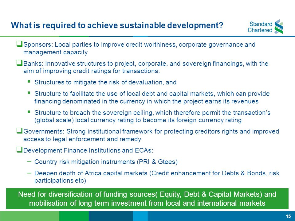 What is required to achieve sustainable development