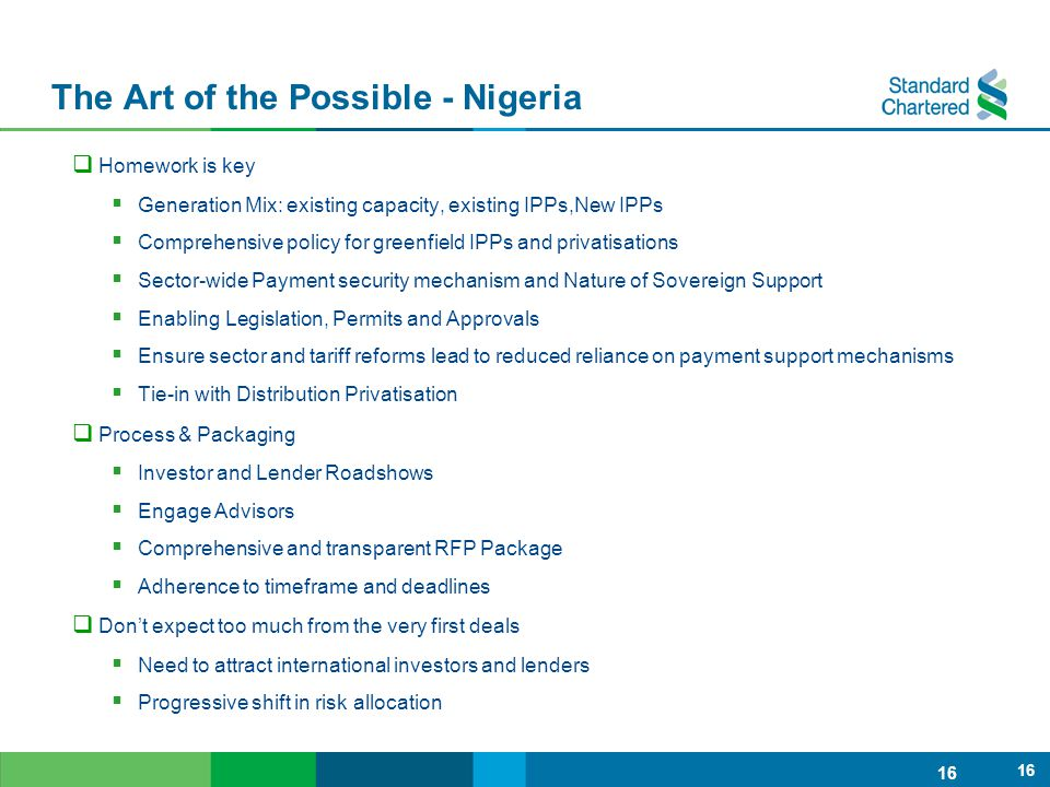 The Art of the Possible - Nigeria