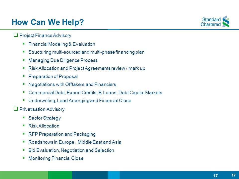 How Can We Help Project Finance Advisory