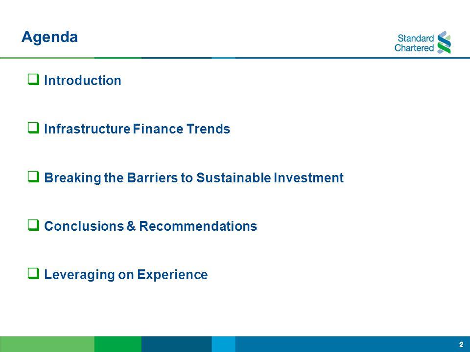 Agenda Introduction Infrastructure Finance Trends