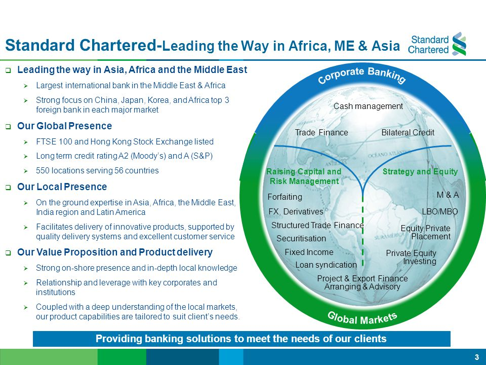 Standard Chartered-Leading the Way in Africa, ME & Asia