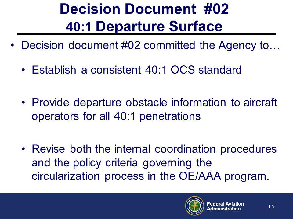 Decision Document #02 40:1 Departure Surface