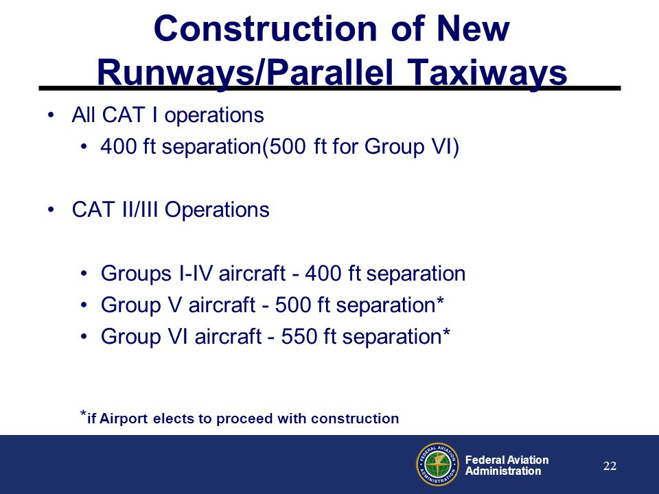 Construction of New Runways/Parallel Taxiways
