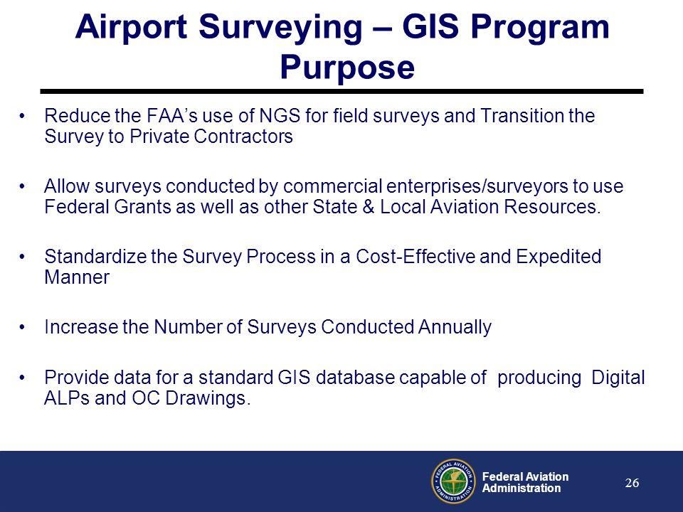 Airport Surveying – GIS Program Purpose