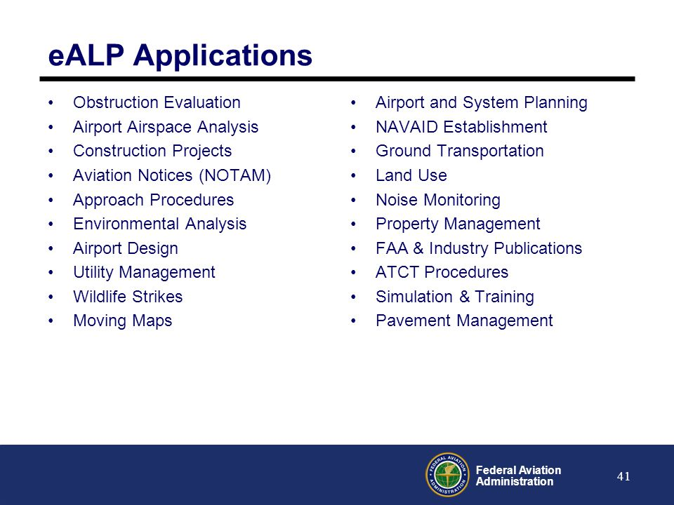 eALP Applications Obstruction Evaluation Airport Airspace Analysis