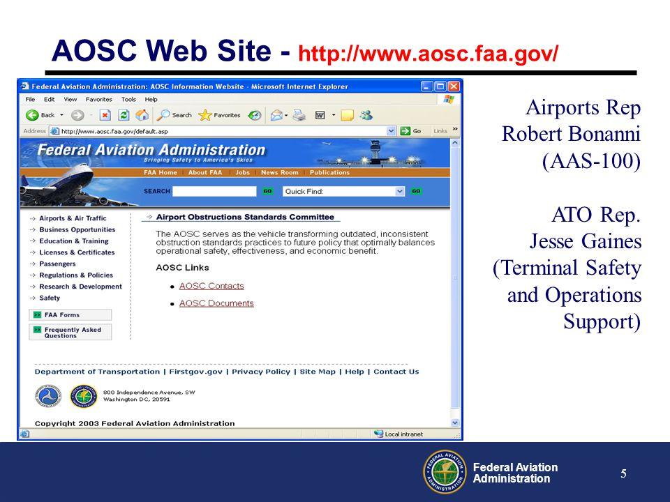 AOSC Web Site - http://www.aosc.faa.gov/