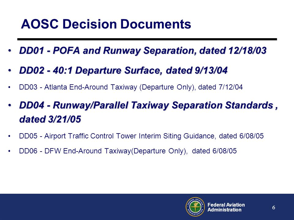 AOSC Decision Documents