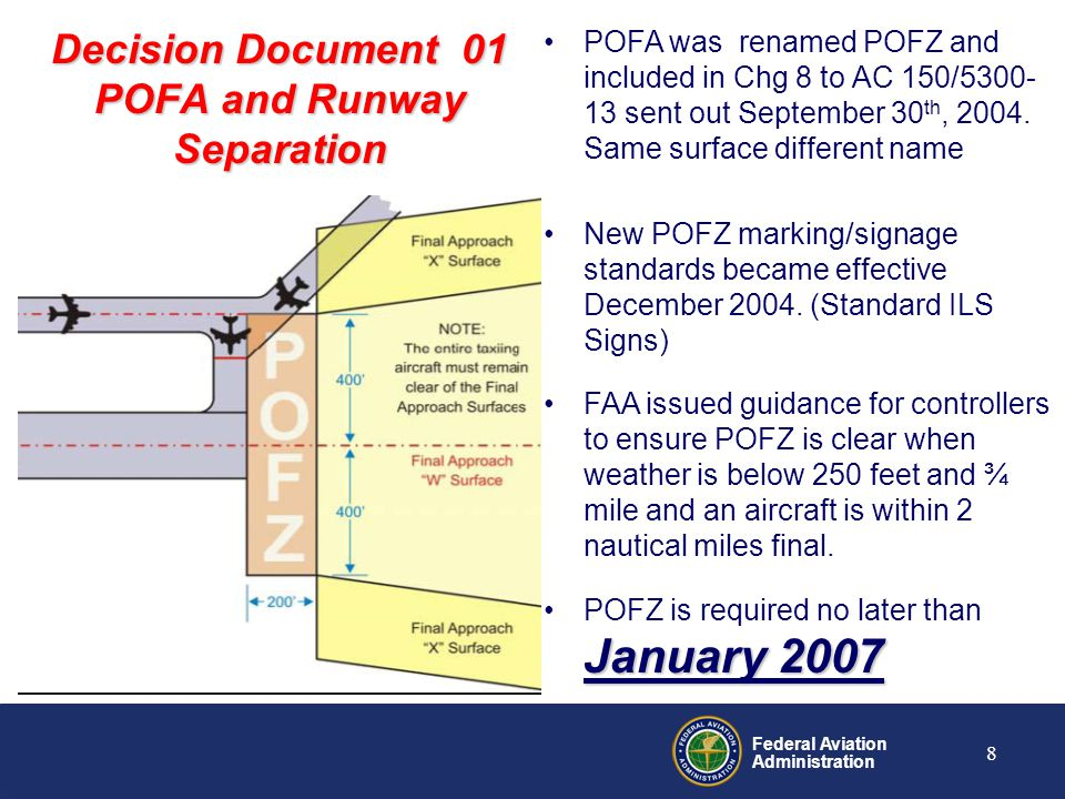 Decision Document 01 POFA and Runway Separation