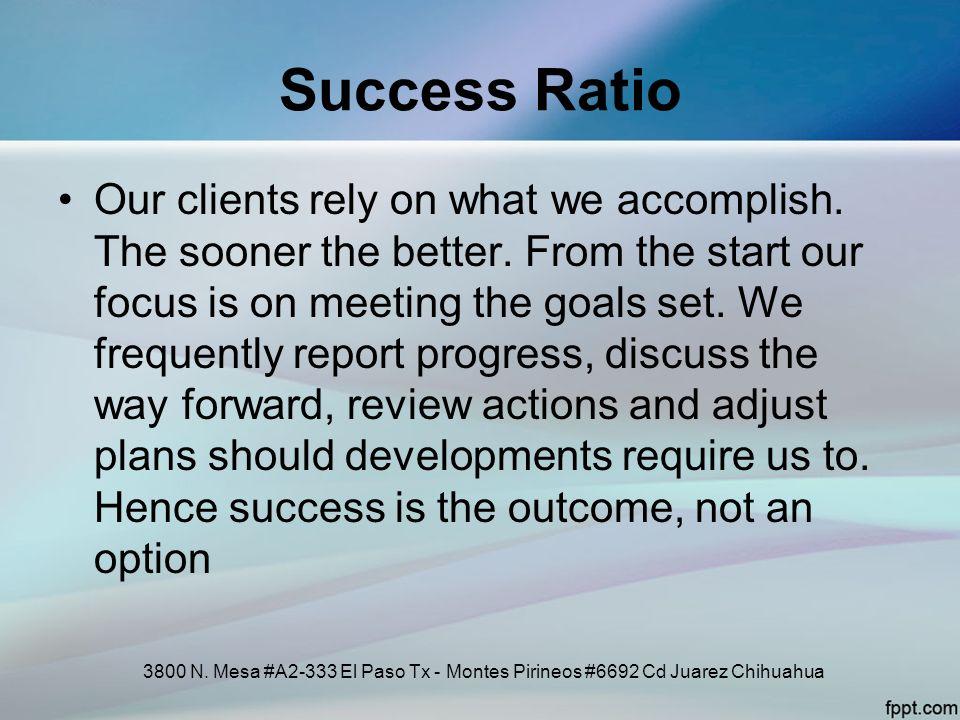 Success Ratio