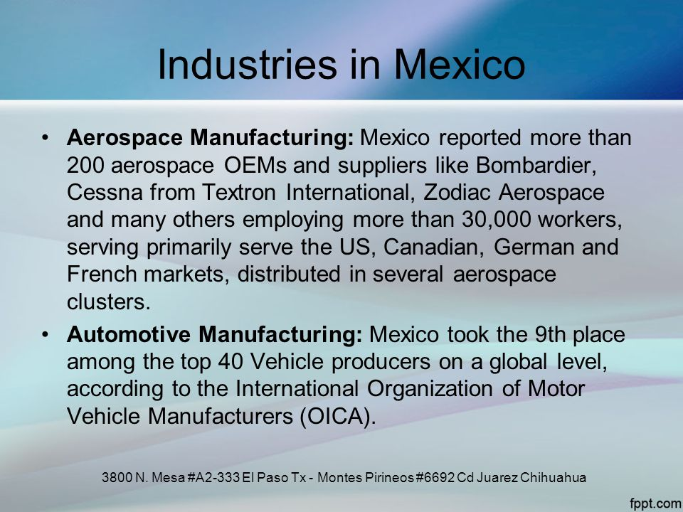 Industries in Mexico