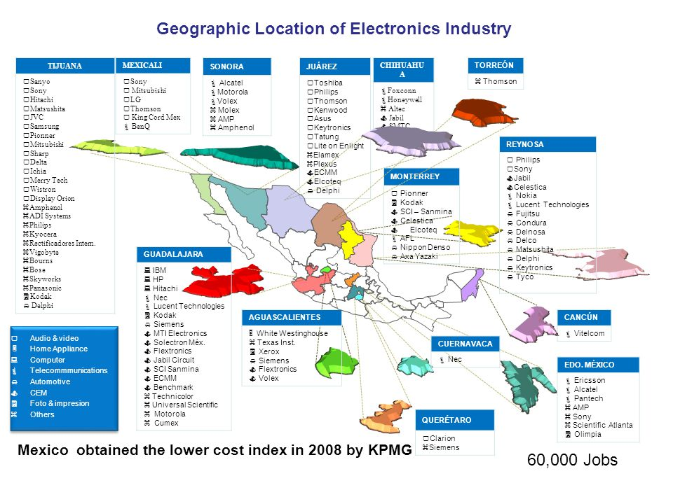 Geographic Location of Electronics Industry