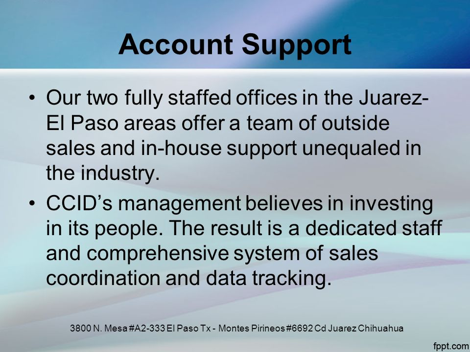 Account Support