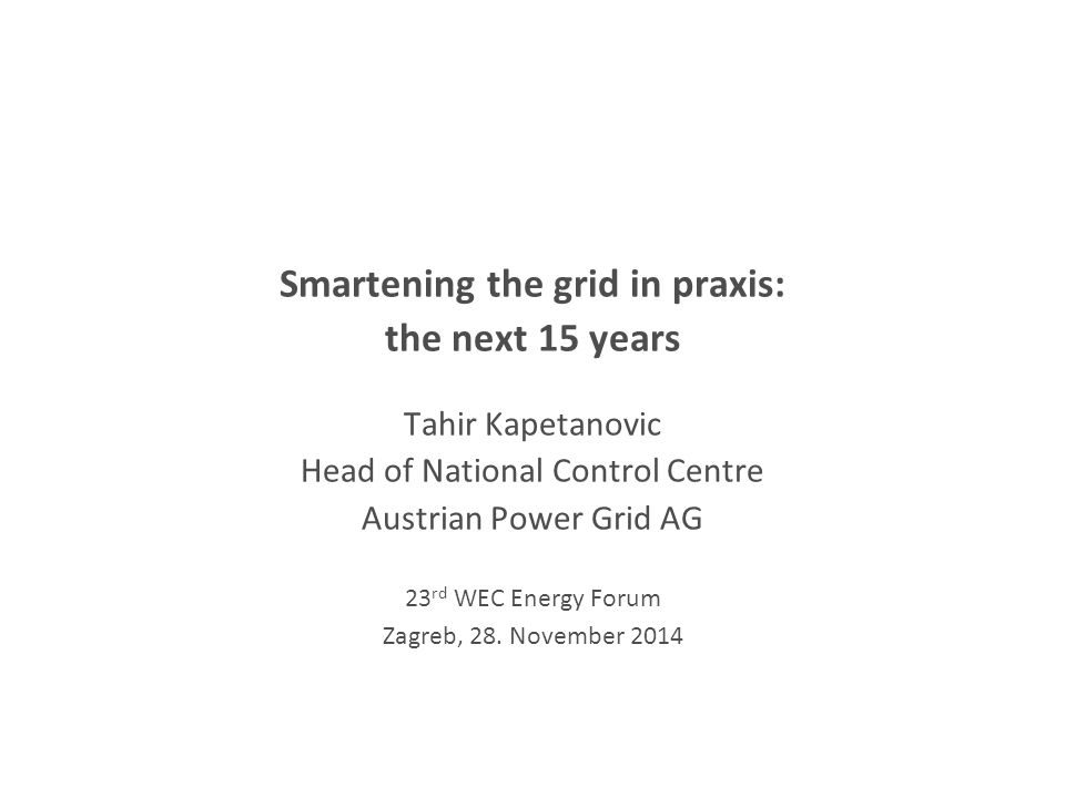 Smartening the grid in praxis: