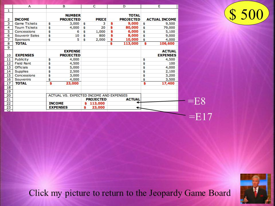 $ 500 =E8 =E17 Click my picture to return to the Jeopardy Game Board