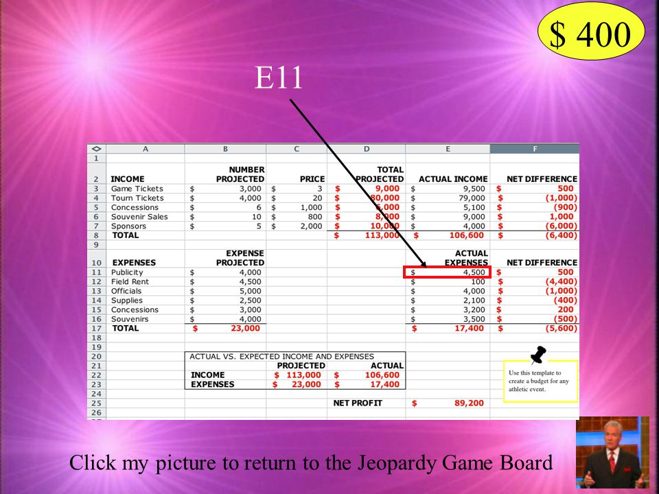 $ 400 E11 Click my picture to return to the Jeopardy Game Board