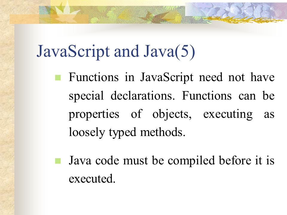 JavaScript and Java(5)