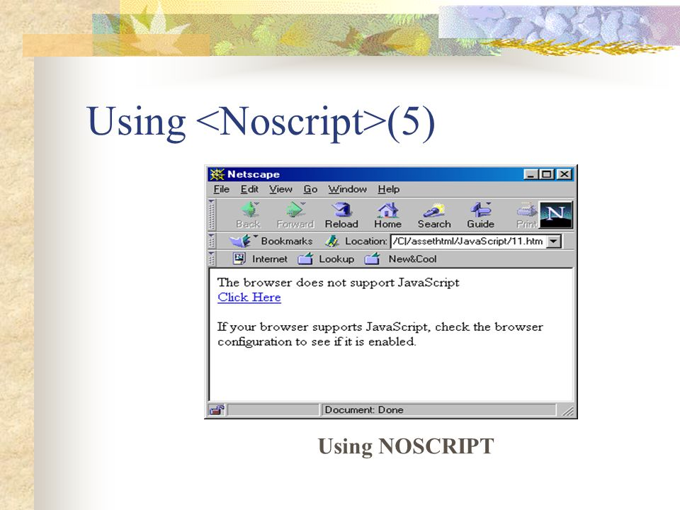 Using <Noscript>(5)
