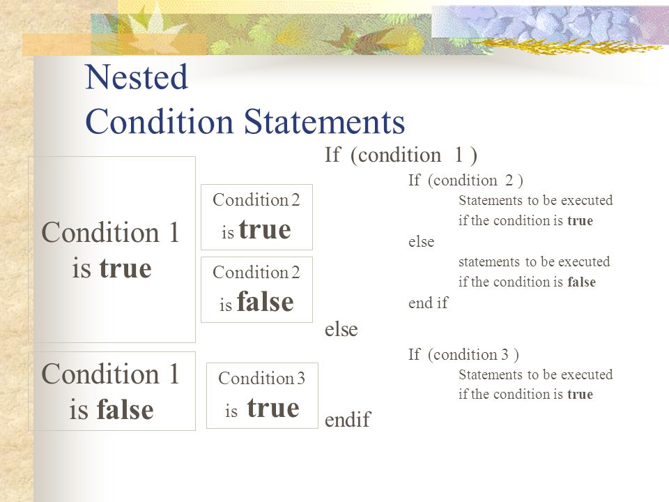 Nested Condition Statements