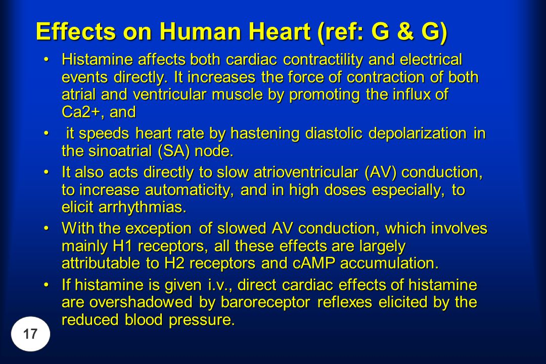 Effects on Human Heart (ref: G & G)
