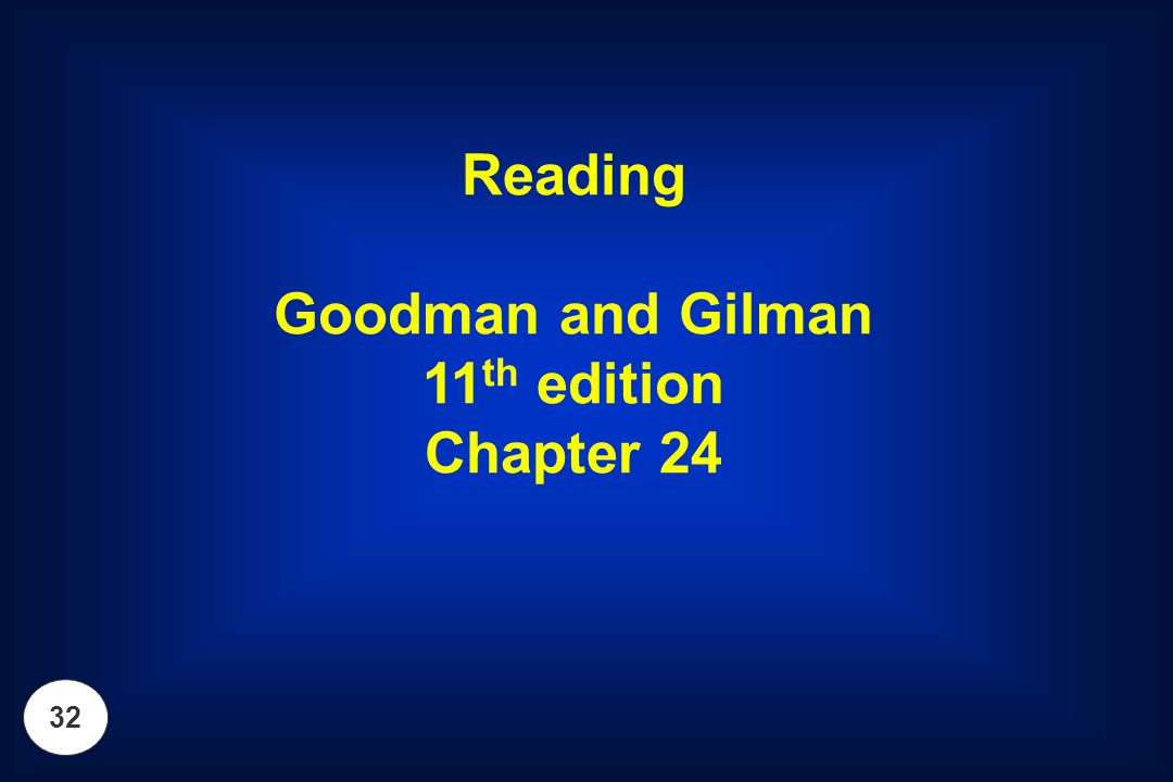 Reading Goodman and Gilman 11th edition Chapter 24