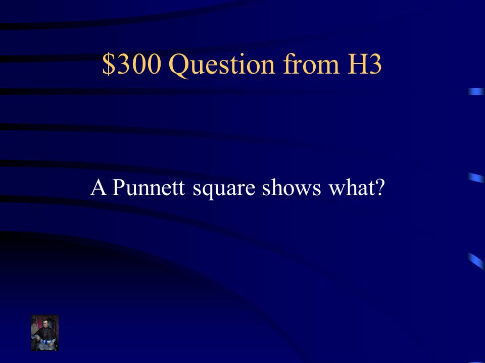 $300 Question from H3 A Punnett square shows what