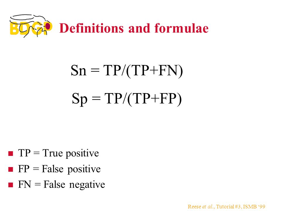 Definitions and formulae