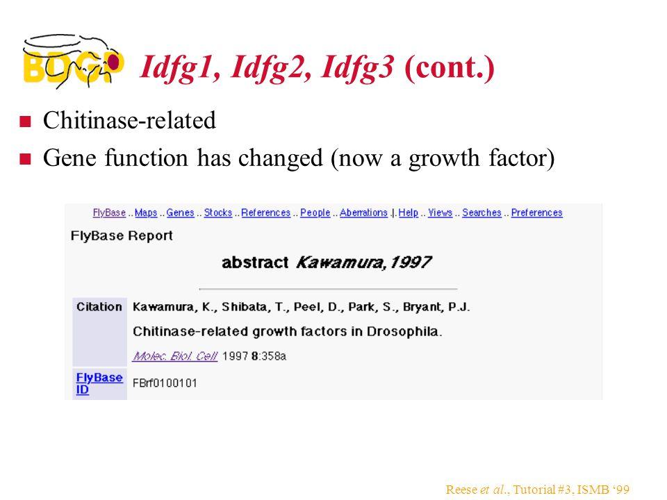 Idfg1, Idfg2, Idfg3 (cont.) Chitinase-related