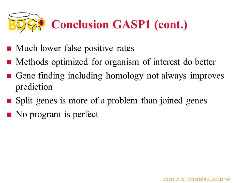 Conclusion GASP1 (cont.)