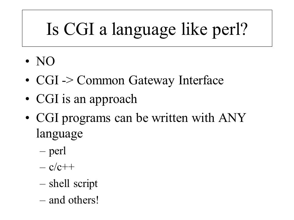 Is CGI a language like perl