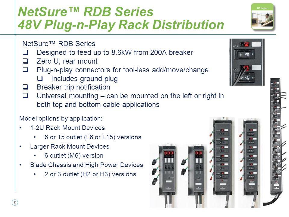 NetSure™ RDB Series 48V Plug-n-Play Rack Distribution